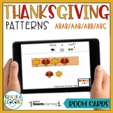 Thanksgiving Patterning Activity   ABAB, ABC, AAB, ABB