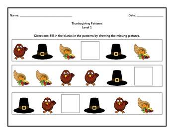 Thanksgiving Patterns Level 1
