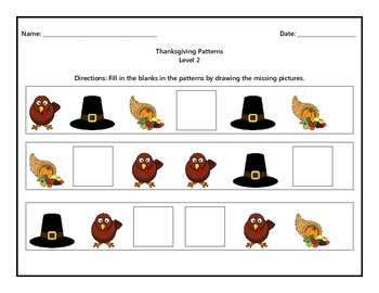 Thanksgiving Patterns Level 2