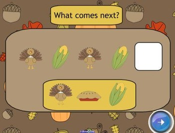 Thanksgiving Patterns SMART Board Lesson