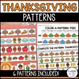 Thanksgiving Patterns | AB, ABC, ABB, AAB, AABB, ABCD | Cu