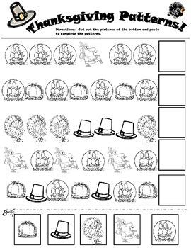 Thanksgiving Patterns Worksheet
