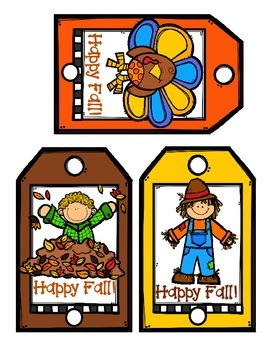 Thanksgiving Pencil Topper Classroom Gift Set