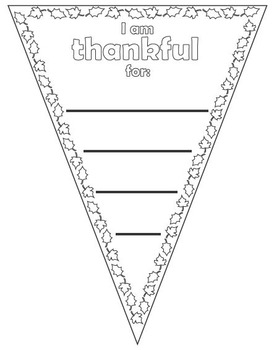 Thanksgiving Pennant * Banner * Flag * Coloring page