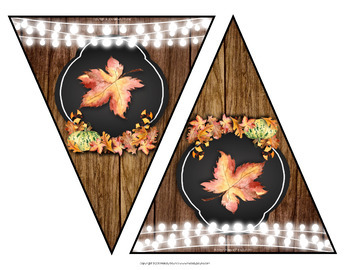 Thanksgiving Banners {4 Rustic Banners}