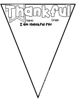 Thanksgiving Pennant Free