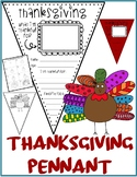 THANKSGIVING Pennant & TURKEY Drawing