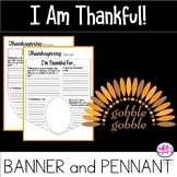 Thanksgiving Pennant and Banner Display