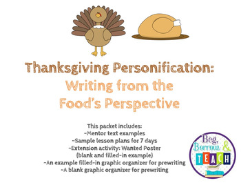 Thanksgiving Personification:  Writing from the Food's Perspective