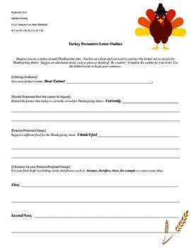 Thanksgiving Persuasive Letter