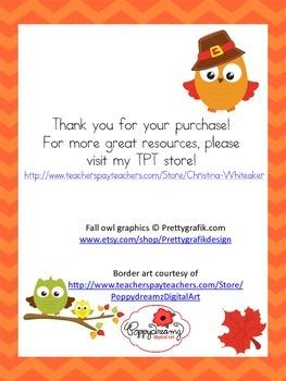 Thanksgiving Persuasive Writing Activity