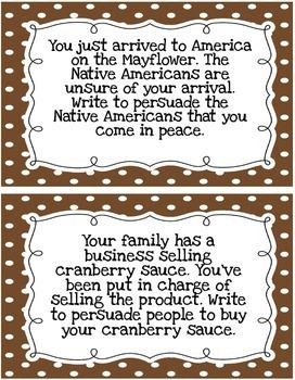 Thanksgiving Persuasive Writing Pack | Persuasive Writing Prompts
