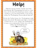 Thanksgiving Persuasive Writing Prompt and Organizer