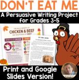 Don't Eat ME! Thanksgiving Persuasive Opinion Writing Goog