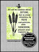 Bible Verse Poster Philippians 4:6 Religious Thanksgiving Sign