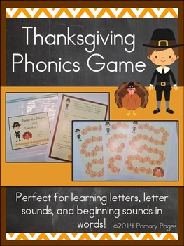 Thanksgiving Phonics Game- An Alphabet Literacy Center