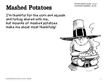 Thanksgiving Poetry: Thanksgiving Phonics Poems