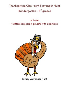 Thanksgiving Phonics Scavenger Hunt