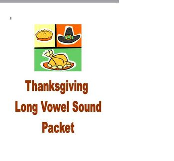 Thanksgiving Phonics and Fluency Reading Long Vowel Packet