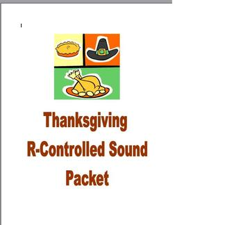Thanksgiving Phonics and Fluency Reading R-Controlled Packet