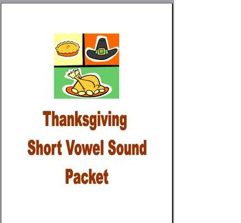 Thanksgiving Phonics and Fluency Reading Short Vowel Packet