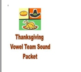 Thanksgiving Phonics and Fluency Reading Vowel Team Packet
