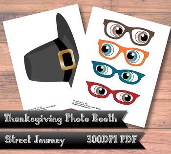 Thanksgiving Photo Booth Digital Download PDF Printable