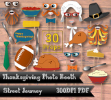 Thanksgiving Photo Booth Digital Download PDF Printable