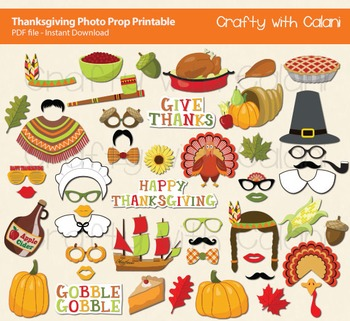 Thanksgiving Photo Booth Prop, Thanksgiving Party Photo Booth Prop