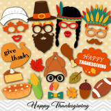 Thanksgiving Photo Booth Props, Turkey Party Props, Fall Festival Party Props