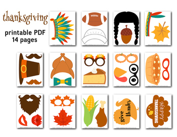 Thanksgiving Photo Booth Props Turkey Party Props Fall Festival