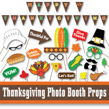 image about Thanksgiving Printable Decorations known as Thanksgiving Picture Booth Props and Decorations - Printable
