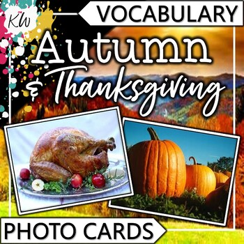 Flashcards: Fall Vocabulary and Thanksgiving Vocabulary