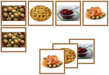 Thanksgiving Photo Matching Cards