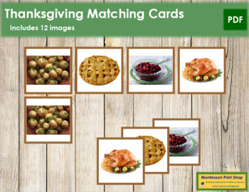 Thanksgiving Matching Cards