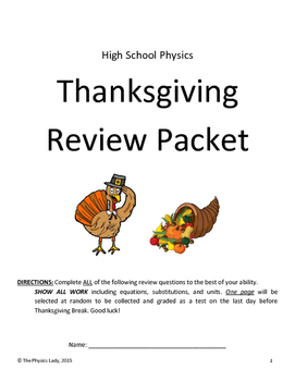Thanksgiving Physics