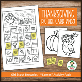 "Thanksgiving Picture Card Bingo - Girl Scout Brownies - ""Senses"" (Step 1)"