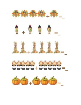 Thanksgiving Picture Math Pack Addition & Subtraction