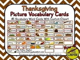 45 Thanksgiving Picture Vocabulary Cards {A Hughes Design}