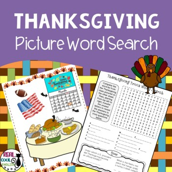 Thanksgiving Picture Word Search Puzzle