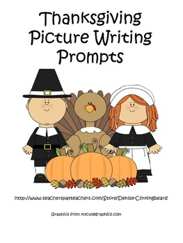 Thanksgiving Picture Writing Prompts