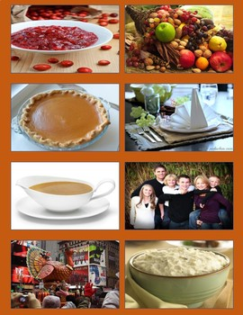 Thanksgiving Picture and Word Match
