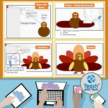 Thanksgiving Pictures using Shapes in Google Drive