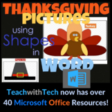 Thanksgiving Pictures using Shapes in Microsoft Word