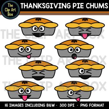 Thanksgiving Pie Chums - Clip Art
