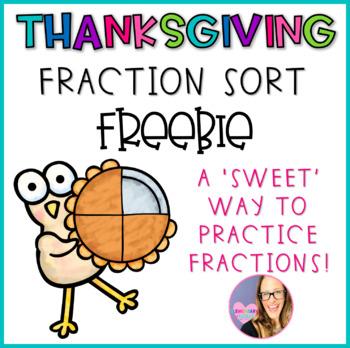 Thanksgiving Pie Fraction Sort FREEBIE
