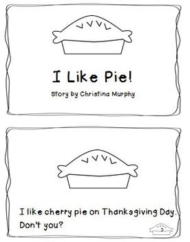 "Thanksgiving ""Pie"" Literacy and Math Centers"