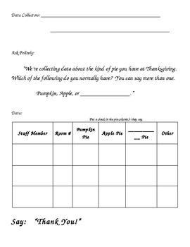 Thanksgiving Pie Math Data Investigation