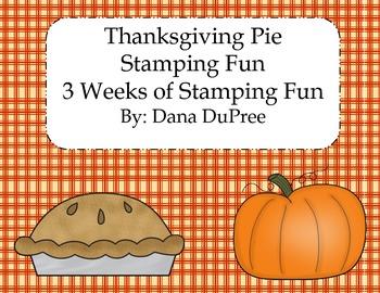Thanksgiving Pie Stamping Fun