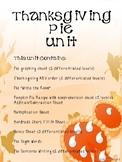 Thanksgiving Pie Unit